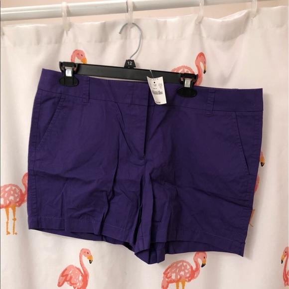 J. Crew Pants - 💟jcrew purple chino shorts💟